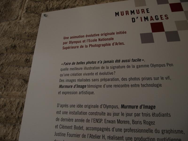Murmure d'images Olympus Arles 2010 - production photo Mur-detail_3
